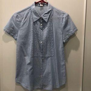JCrew ruffle front shirt